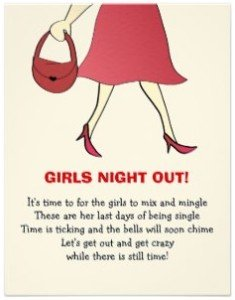 Red Stilettos Bachelorette Party Invites