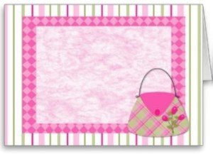 Shabby Pink Roses Purse Border Cards