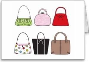 Six Little Purses Card