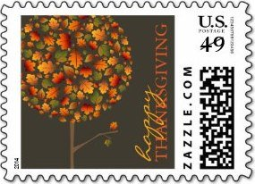 Thanksgiving Autumn Fall Leaves Pop Tree Holiday S Postage Stamp