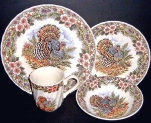 Thanksgiving Turkey Dinnerware Set