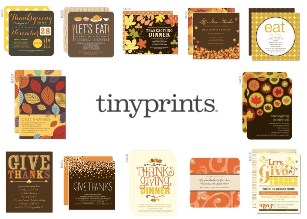 TinyPrints Thanksgiving Invitations