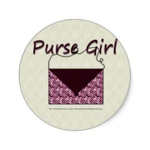 Zebra Purse Girl Stickers