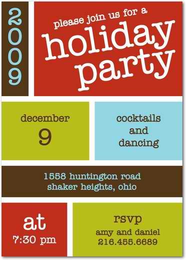 block bash holiday party invitations
