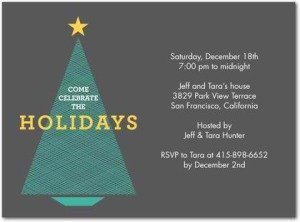 chic holiday party invitations