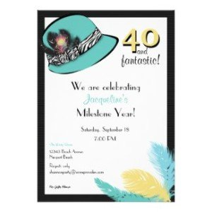 Hats on hat theme party planning ideas supplies birthdays classic chic hat with feathers announcement yellowflowersgardenpartyinvitation stopboris Image collections