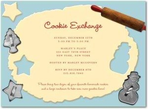 cookie cutout holiday party invitations