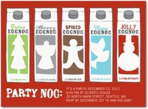 eggnog holiday party invitations