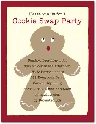 gingerbread holiday party invitations