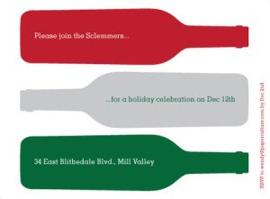 holiday wine party invitations