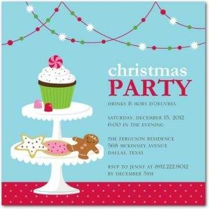 holiday cupcake party invitations