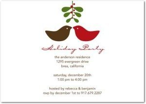 little peck holiday party invitations