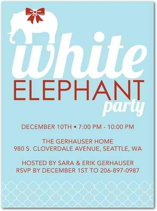 pachyderm presents holiday party invitations
