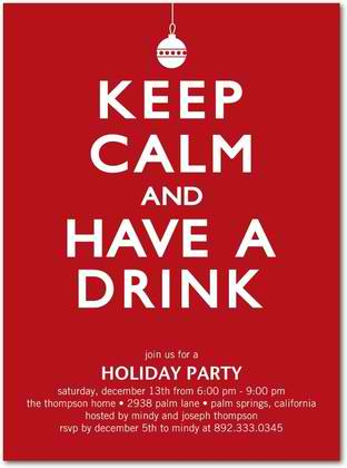 peaceful drinks holiday party invitations
