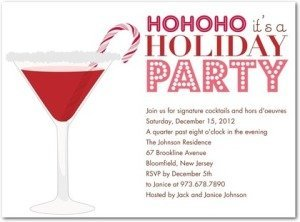 peppermint party holiday party invitations