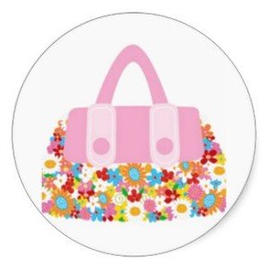 pretty purse floral stickers