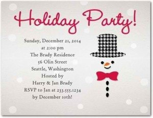 silly snowman holiday party invitations