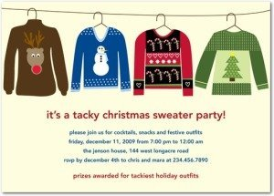 sweet sweaters holiday party invitations