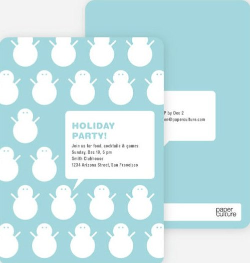 talking snowmen holiday party invitations