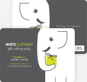 white elephant party invitations, Best Holiday Party Invitations