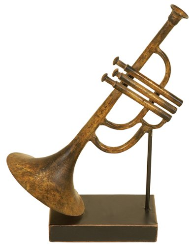 Metal Trumpet Table Decor