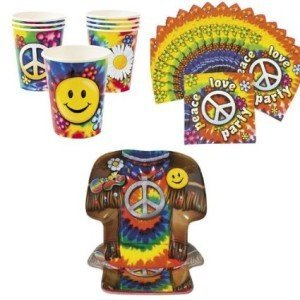 60's Groovy Party Tableware Set