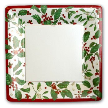 Holiday Greens Pearl Plates