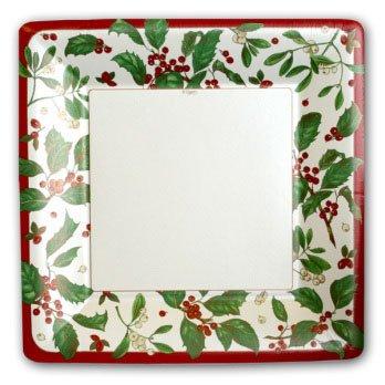 Holiday Greens Pearl Plates
