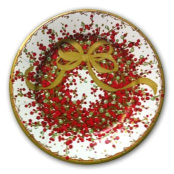 Pepperberry Christmas Wreath Plates