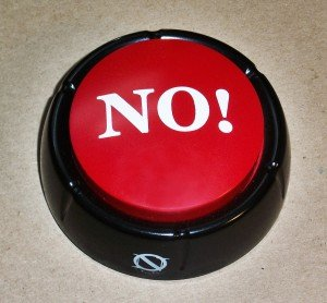 NO! Button, Holiday Grab Bag, White Elephant Gift Exchange, Stocking Stuffers & Gag Gift Ideas
