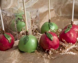 Apple Brownie Pops
