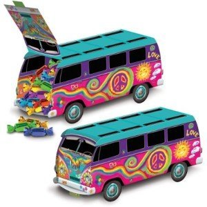 Beistle 57326 1-Pack 60's Bus Centerpiece