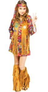 Big Girls' Peace & Love Hippie Costume