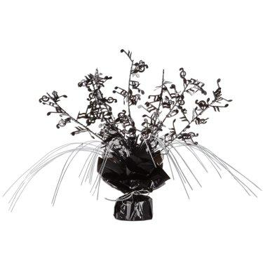 Black and Silver Musical Notes Foil Spray Centerpiece