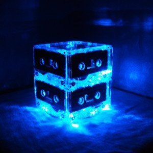 Cassette Tape Mixtape Lighted Centerpiece