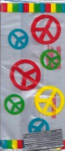 Peace Sign Cello Loot Bags