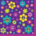 Groovy Girl Birthday Beverage Napkins