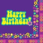 Groovy Girl Happy Birthday Luncheon Napkins