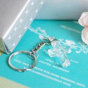 Crystal Cross Key Chain