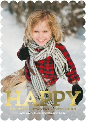 Enduring Happiness Foil Stamped Holiday Card