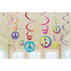 Feeling Groovy Swirl Decorations