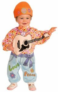Forum Novelties Baby Boy's Lil' Rock Star Baby Hippie Costume