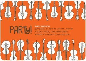 Guitar Collection Invitations