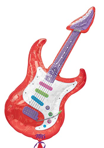 Guitar Shaped Mylar Balloon
