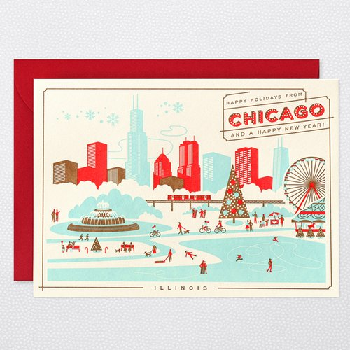HAPPY HOLIDAYS FROM CHICAGO Holiday Cards