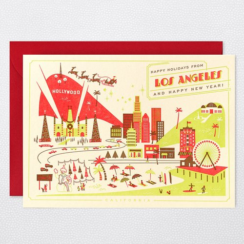 HAPPY HOLIDAYS FROM LOS ANGELES Holiday Card