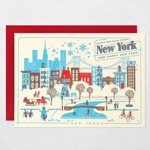 HAPPY HOLIDAYS FROM NEW YORK Holiday Card