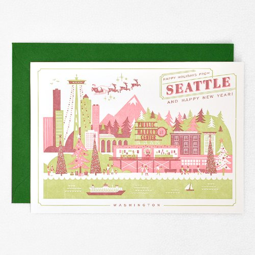 HAPPY HOLIDAYS FROM SEATTLE Holiday Cards