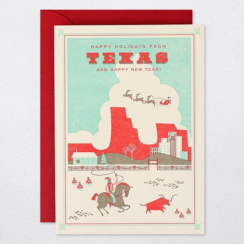 HAPPY HOLIDAYS FROM TEXAS  Holiday Cards