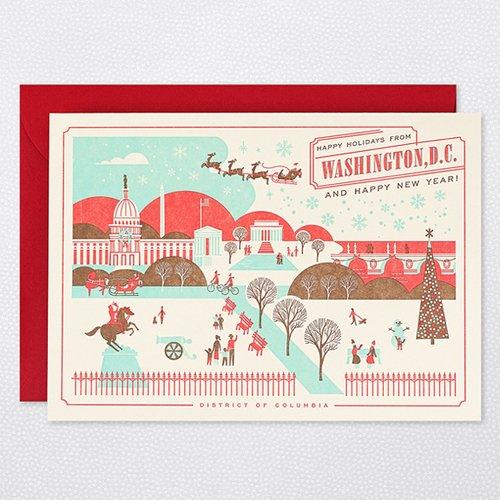 HAPPY HOLIDAYS FROM WASHINGTON D.C. Holiday Cards